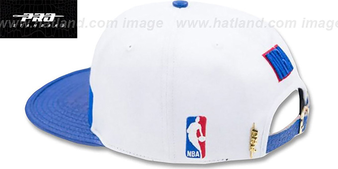 NBA Logoman 'HORIZON STRAPBACK' White-Royal Hat by Pro Standard