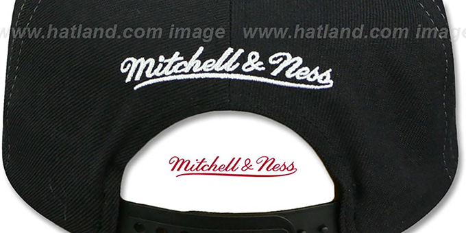 Nets 'AJD SNAPBACK' Black-White Adjustable Hat by Mitchell and Ness