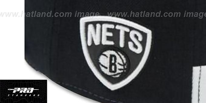 super popular 18fca a22d0 ... Nets  HORIZON STRAPBACK  Black-White Hat by Pro Standard