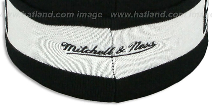 Nets 'THE-BUTTON' Knit Beanie Hat by Michell & Ness