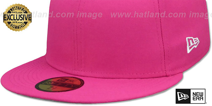 New Era '59FIFTY-BLANK' Beetroot Fitted Hat