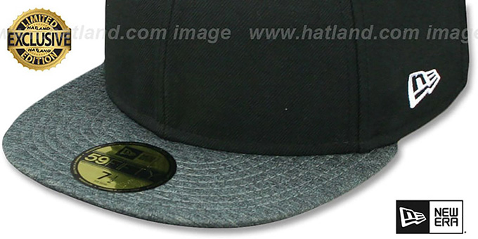 New Era '59FIFTY-BLANK' Black-Grey Shadow Tech Fitted Hat