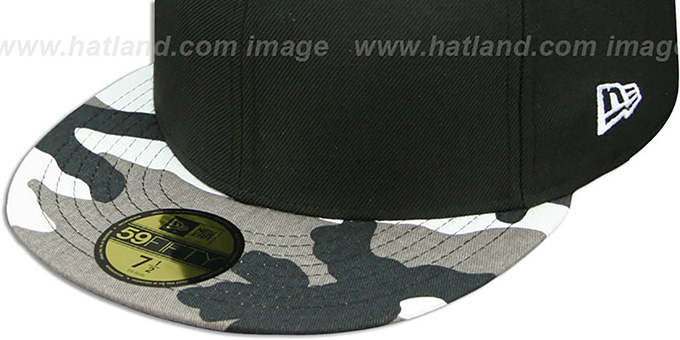 New Era '59FIFTY-BLANK' Black-Urban Camo Fitted Hat
