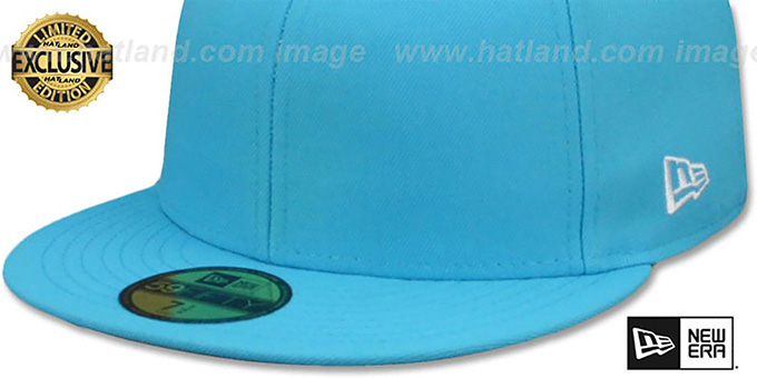 New Era '59FIFTY-BLANK' Neon Blue Fitted Hat