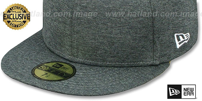 97f6d7784429e New Era 59FIFTY-BLANK Dark Grey Shadow Tech Fitted Hat