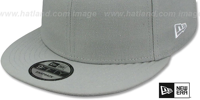 ... New Era  BLANK SNAPBACK  Light Grey Adjustable Hat 8157b1444bd
