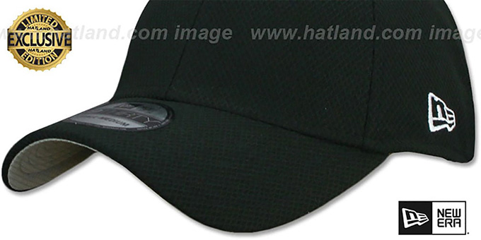 New Era DIAMOND TECH '39THIRTY-BLANK' Black Flex Fitted Hat