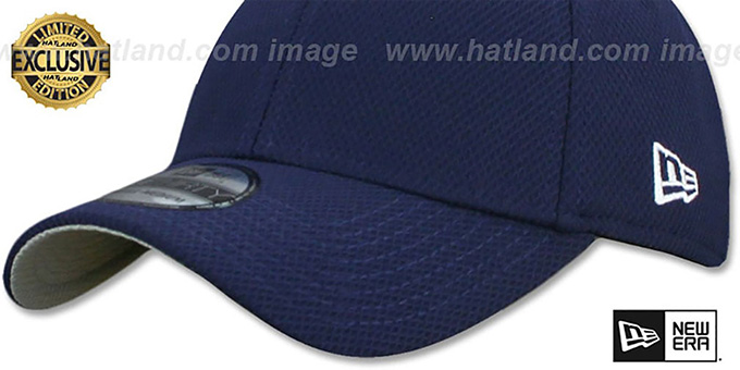 New Era 'DIAMOND TECH 39THIRTY-BLANK' Navy Flex Fitted Hat