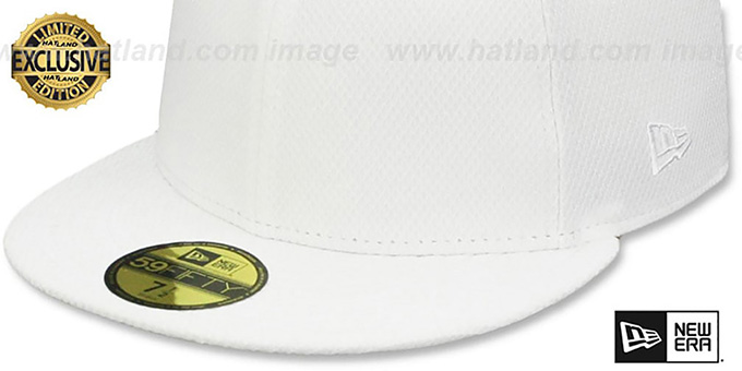 New Era 'DIAMOND TECH 59FIFTY-BLANK' White Fitted Hat