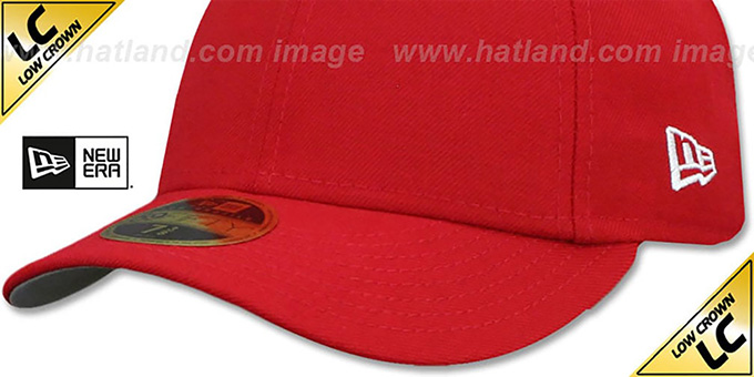 New Era 'LOW-CROWN 59FIFTY-BLANK' Red Fitted Hat