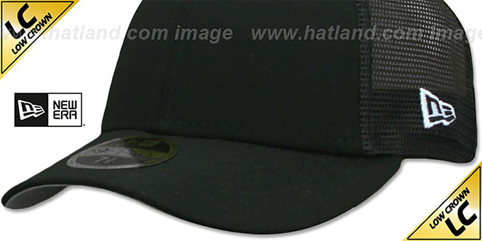 New Era 'LOW-CROWN MESH-BACK 59FIFTY-BLANK' Black-Black Fitted Hat