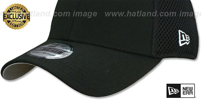 New Era NEO-MESH '39THIRTY-BLANK' Black-Black Flex Fitted Hat
