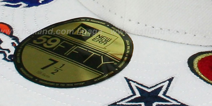 NFL 'ALL-OVER' White Fitted Hat by New Era