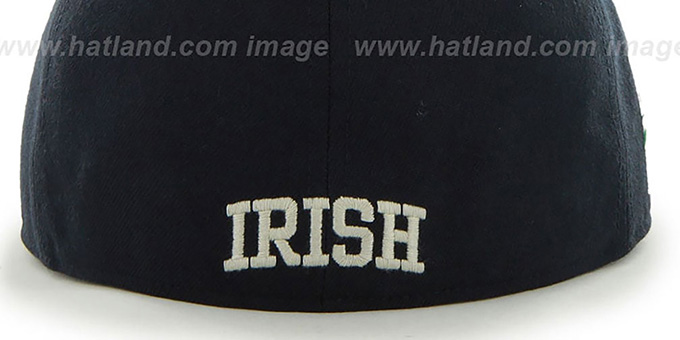 Notre Dame 'NCAA ALT CATERPILLAR' Navy Fitted Hat by 47 Brand