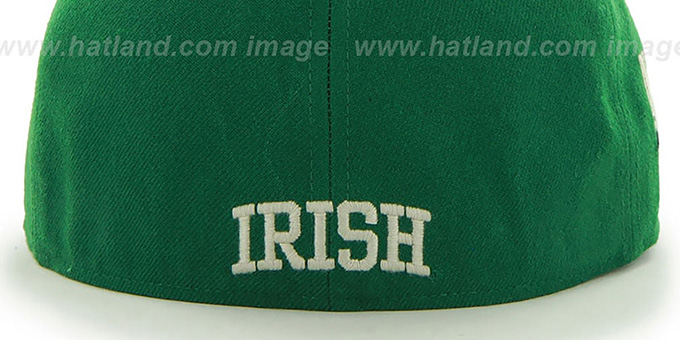 Notre Dame 'NCAA CATERPILLAR' Green Fitted Hat by 47 Brand
