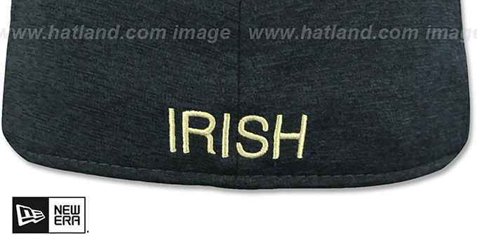 Notre Dame 'HEATHER-HUGE' Navy-Gold Fitted Hat by New Era
