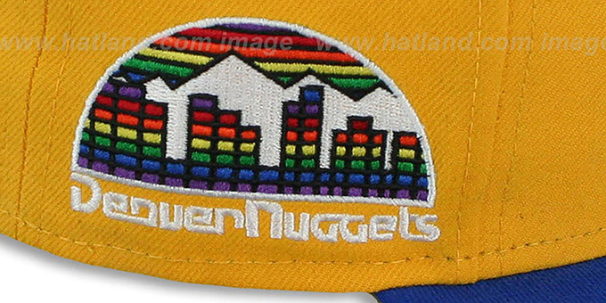 Nuggets 'HWC-TIGHT' Gold-Royal Fitted Hat by New Era