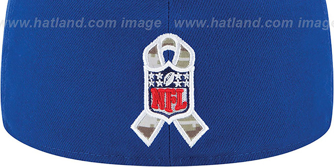 NY Giants '2014 SALUTE-TO-SERVICE' Royal-Desert Fitted Hat by New Era