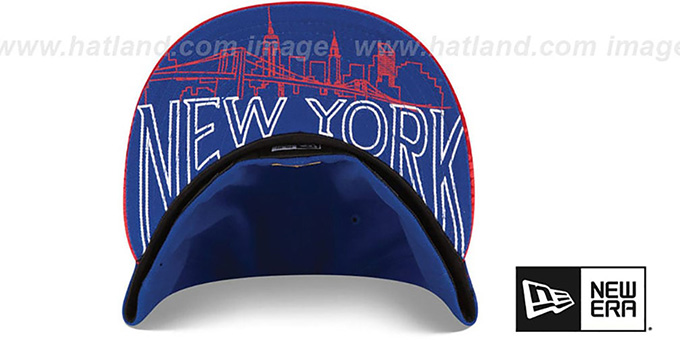 NY Giants '2015 NFL DRAFT' Royal-Red Fitted Hat by New Era