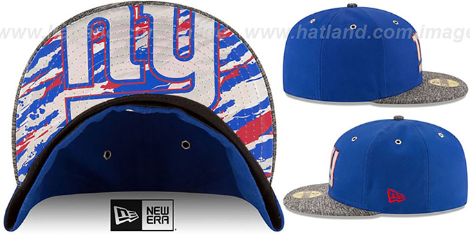 New York NY Giants 2016 NFL DRAFT Fitted Hat by New Era f0a6776fb60