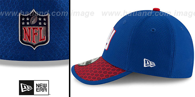NY Giants 'HONEYCOMB STADIUM FLEX' Royal Hat by New Era