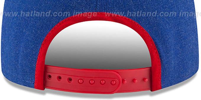 2a4dec4044d ... NY Giants  LOGO GRAND SNAPBACK  Royal-Red Hat by New Era