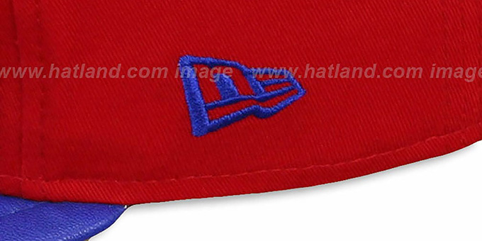 NY Giants 'NFL ENGLISH-WORD SNAPBACK' Red-Royal Hat by New Era