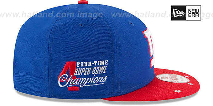 NY Giants 'NFL STAR-TRIM SNAPBACK' Royal-Red Hat by New Era