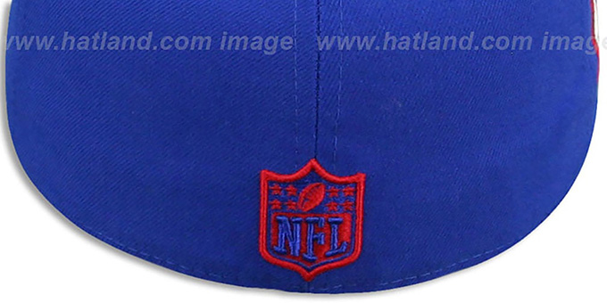 ... NY Giants  SIDE TEAM-PATCH  Royal Fitted Hat by New Era 778fb96fc