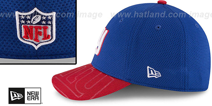 NY Giants 'STADIUM TRAINING FLEX' Royal-Red Hat by New Era
