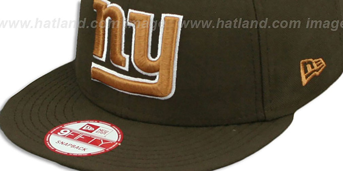 NY Giants 'TEAM-BASIC SNAPBACK' Brown-Wheat Hat by New Era