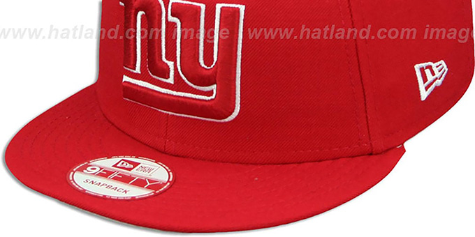 NY Giants 'TEAM-BASIC SNAPBACK' Red-White Hat by New Era