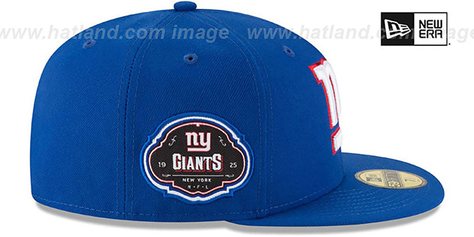 NY Giants 'TEAM-SUPERB' Royal Fitted Hat by New Era