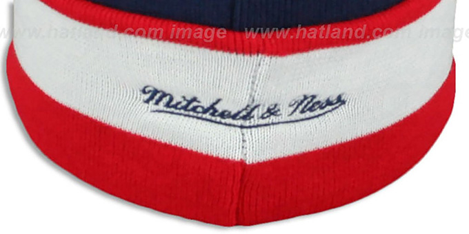 NY Giants 'THE-BUTTON' Knit Beanie Hat by Michell & Ness