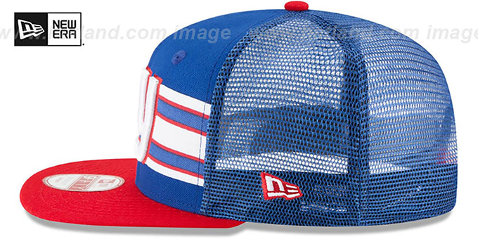 NY Giants 'THROWBACK-STRIPE SNAPBACK' Royal-Red Hat by New Era