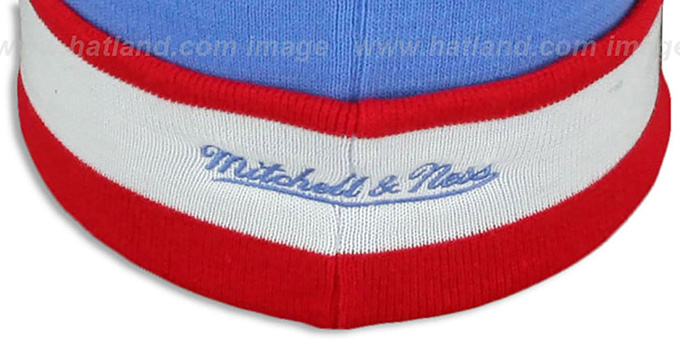 Oilers 'THE-BUTTON' Knit Beanie Hat by Michell and Ness