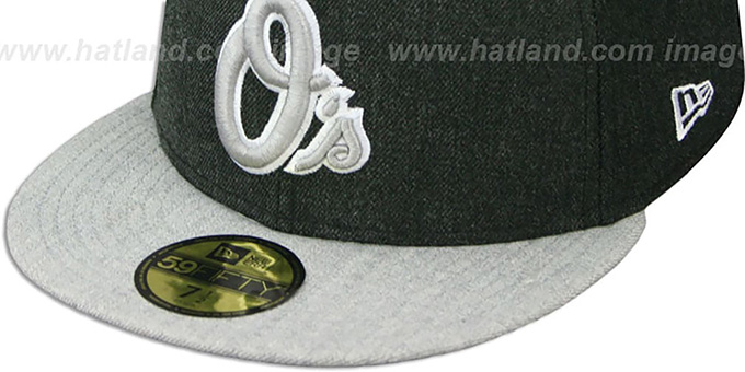 Orioles '2T-HEATHER ACTION' Charcoal-Grey Fitted Hat by New Era