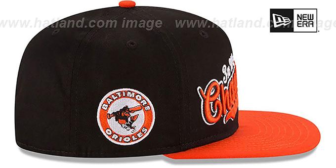 00a3001d39f39 ... Orioles  AL EAST WORLD SERIES CHAMPS SNAPBACK  Black-Orange Hat by New  Era