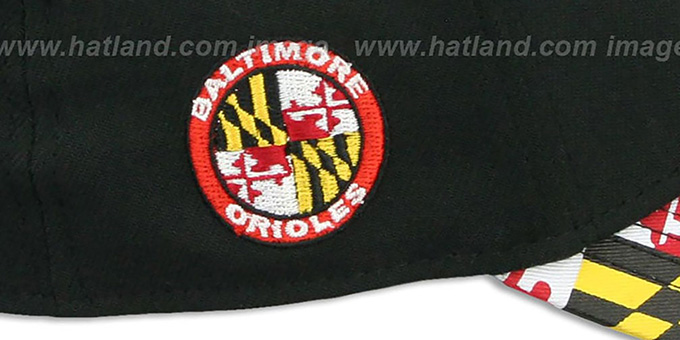 Orioles 'MARYLAND FLAG FLEX' Black-Flag Hat by New Era