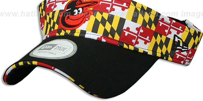 Orioles 'MARYLAND FLAG VISOR' Flag-Black by New Era