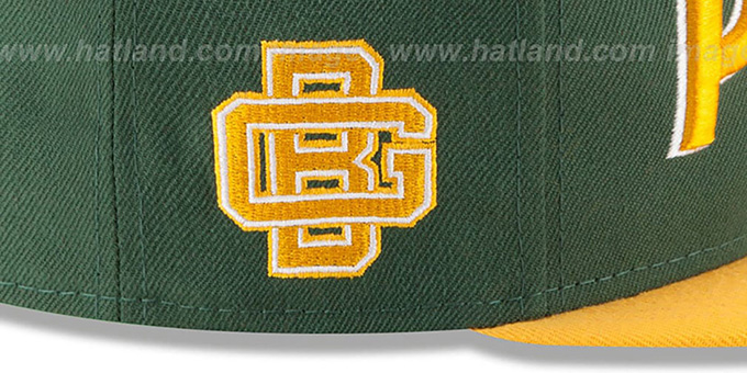 Packers '2T RETRO-SCRIPT SNAPBACK' Green-Gold Hat by New Era