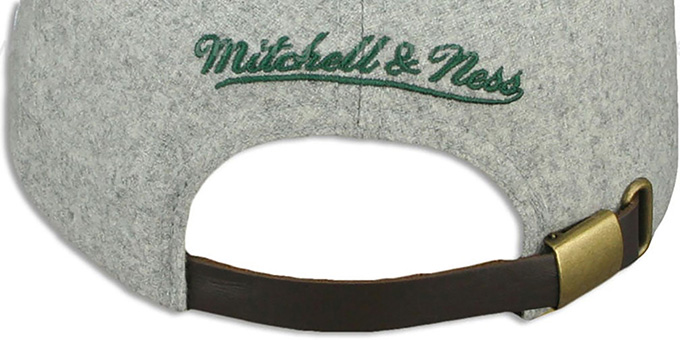 Packers '2T TAILSWEEPER STRAPBACK' Grey-Green Hat by Mitchell and Ness