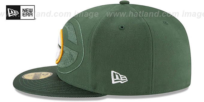Packers 'STADIUM SHADOW' Green Fitted Hat by New Era