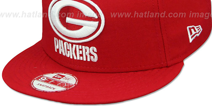 Packers 'TEAM-BASIC SNAPBACK' Red-White Hat by New Era