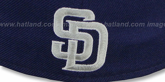 Padres 'SCRIPT-PUNCH' Navy-Grey Fitted Hat by New Era