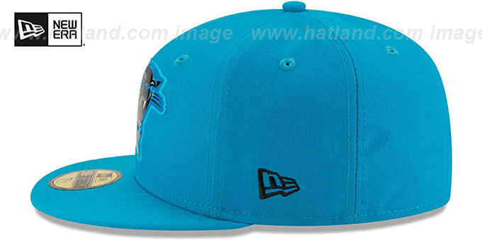 Panthers 'BEVEL' Blue Fitted Hat by New Era