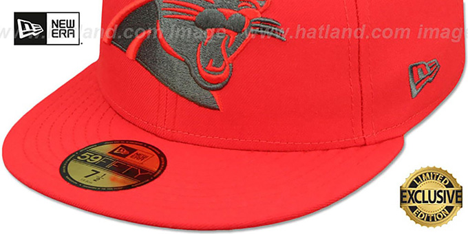 new concept 42cf2 07777 ... Panthers  NFL TEAM-BASIC  Fire Red-Charcoal Fitted Hat by New Era