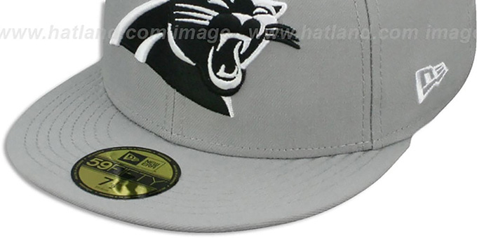 Panthers 'NFL TEAM-BASIC' Grey-Black-White Fitted Hat by New Era