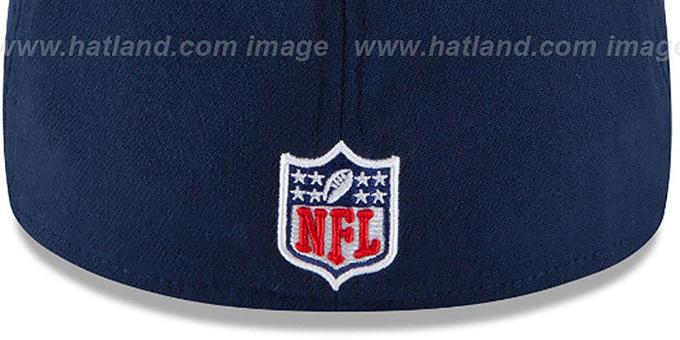 dd2629583f9bf ... Patriots  2015 NFL THROWBACK STADIUM FLEX  Navy-Red Hat by New Era