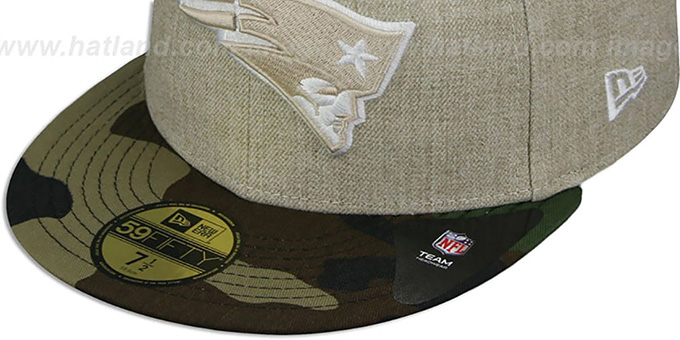 Patriots '2T-HEATHER' Oatmeal-Army Fitted Hat by New Era